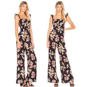 Flynn Skye Bardot Wide Leg Jumpsuit Pastel Blooms